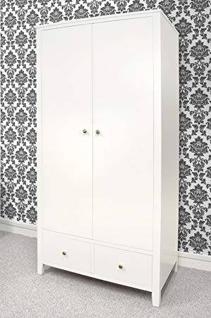 White wardrobe with drawers giving an   elegant look
