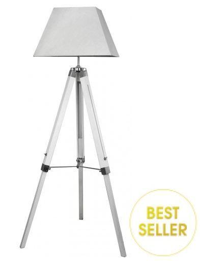 Impressive Design White Wood Floor Lamp Contemporary Design