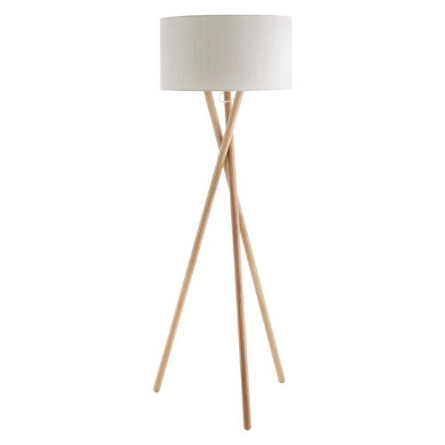 LANSBURY Ash wooden tripod floor lamp base | Buy now at Habitat UK