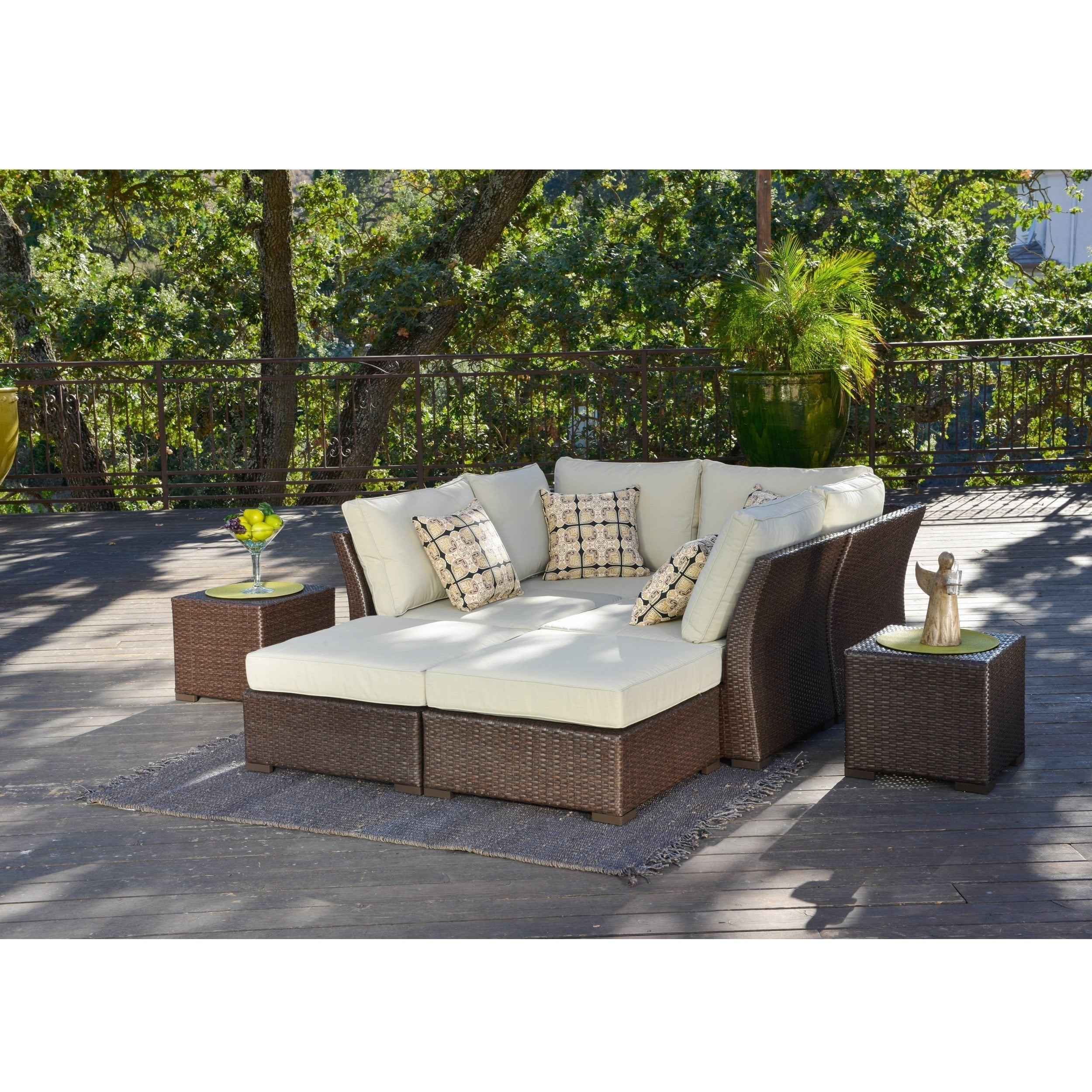 Shop Corvus Oreanne 8-piece Brown Wicker Patio Furniture Set - On Sale -  Free Shipping Today - Traveller Location - 9018067