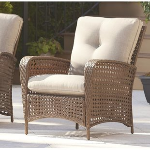Edwards Patio Chair with Cushion (Set of 2)