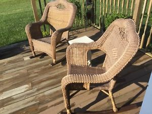 Image is loading Outdoor-Wicker-Rocking-Chair-Cushion-Rocker-Seat-Porch-