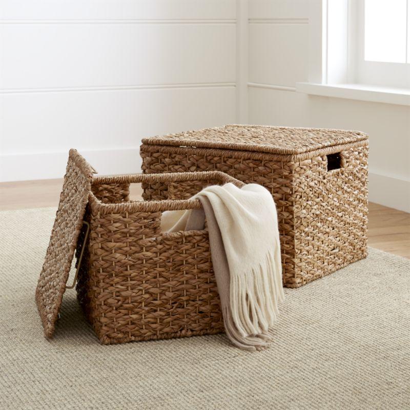Wicker Storage Baskets For Shelves