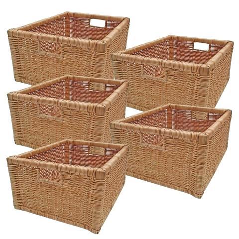 Wicker Storage Baskets Wicker Storage Basket Rattan Shelf Drawer Fern Size  Options Bulk Discounts