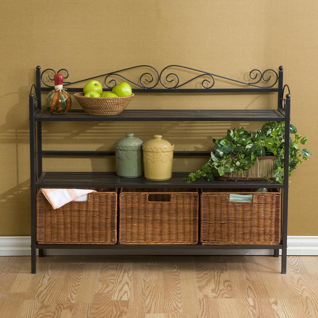 Wicker Storage Baskets For Shelves Home Design