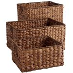 Wicker storage baskets for shelves for   rooms