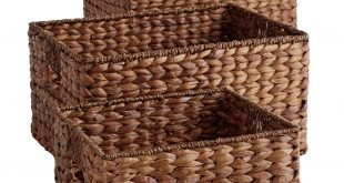 Save this item to Pinterest. Open Gallery (5 Images). Carson Espresso Wicker  Shelf Storage Baskets
