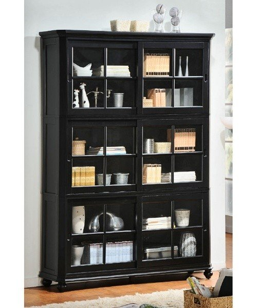 Wood Bookcase With Glass Doors - Ideas on Foter