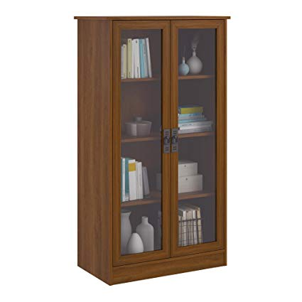 Amazon.com: Ameriwood Home Quinton Point Bookcase with Glass Doors