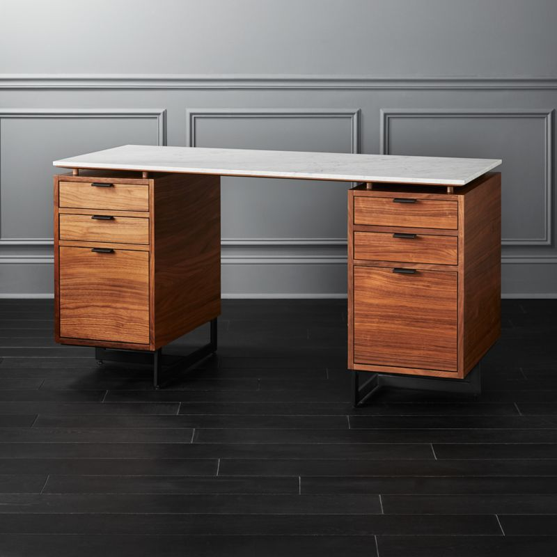 Fullerton Modular Desk with 2 Drawers