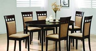 Image Unavailable. Image not available for. Color: Oval Dining Room Wood  Table Chair Set Kitchen Chairs