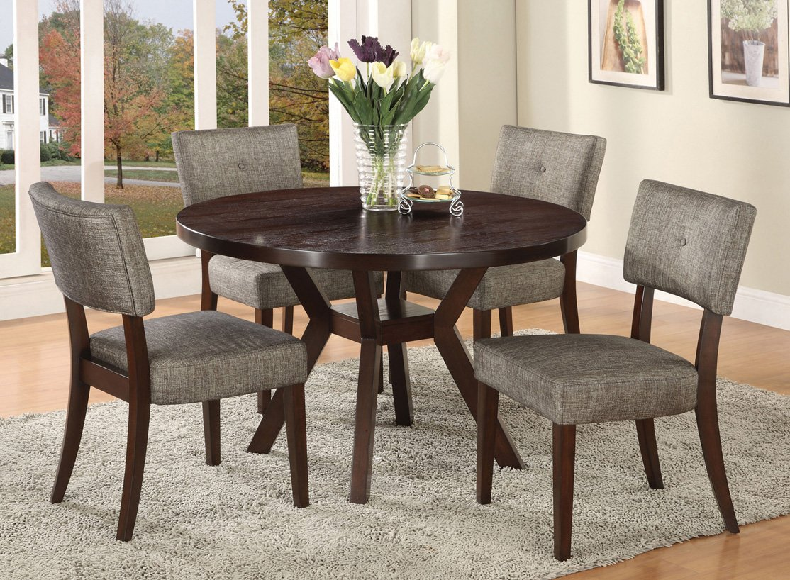 Traveller Location - Acme Furniture Top Dining Table Set Espresso Finish Drake  Collection 4 Chairs - Table & Chair Sets