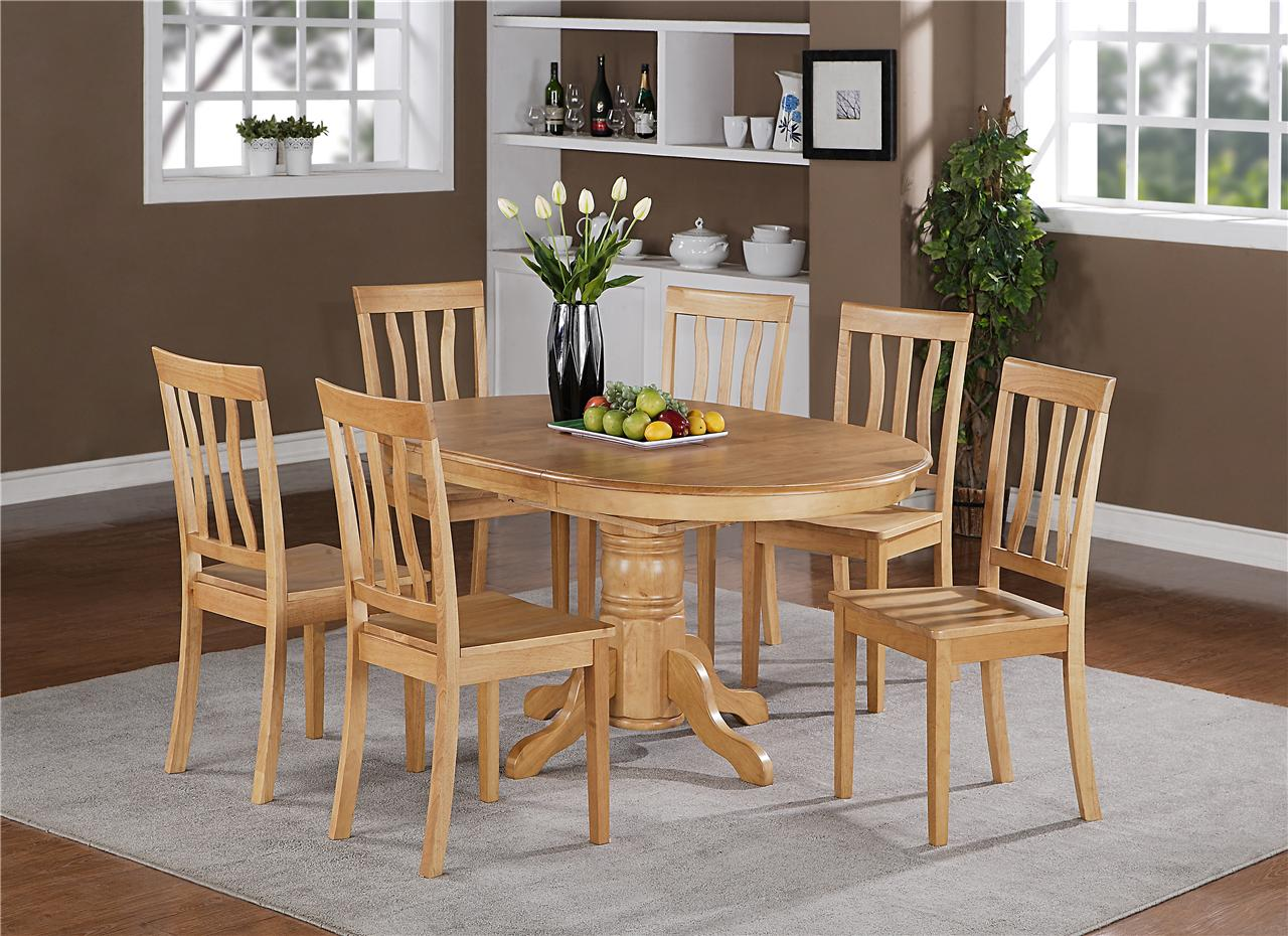 FoxHunter Quality Solid Wooden Dining Table And 4 Chairs. View Larger