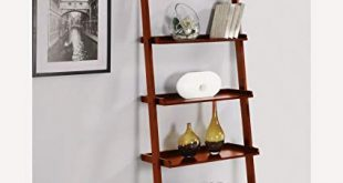 Image Unavailable. Image not available for. Color: AtHomeMart Leaning  Ladder Bookshelf