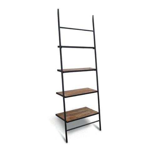 Gracie Oaks Burkholder Wood Leaning Ladder Bookcase