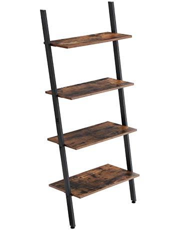 VASAGLE Industrial Ladder Shelf, 4-Layer Bookshelf