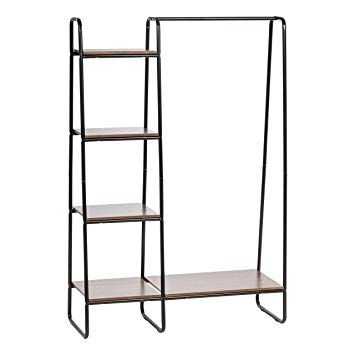 What wooden clothes rack with shelves is   suitable to you?