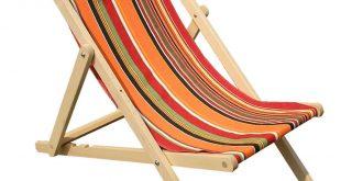 Orange Deckchairs | Wooden Folding Deck Chairs Skipping Stripes