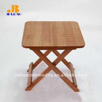 folding coffee table with rubber wood