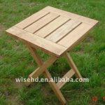 A fashionable wooden folding tea table   design
