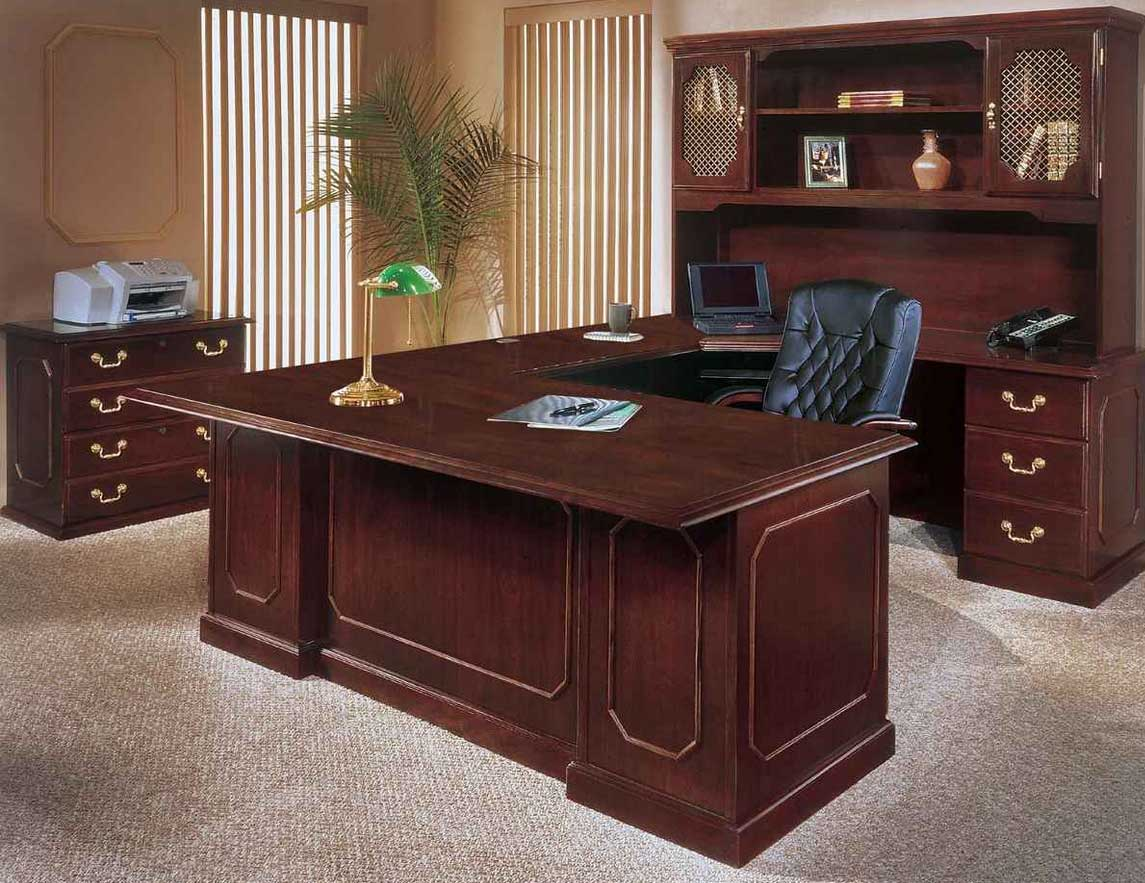Wood Office Furniture Executive Spectacular Wood Office Desk