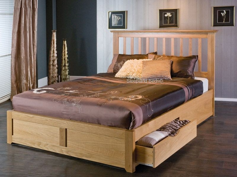Oak Storage Bed With Drawers Limelight Bianca Frame 5ft Kingsize Pertaining  To King Size Prepare 5