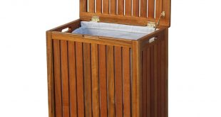 Solid Wood Spa Laundry Hamper