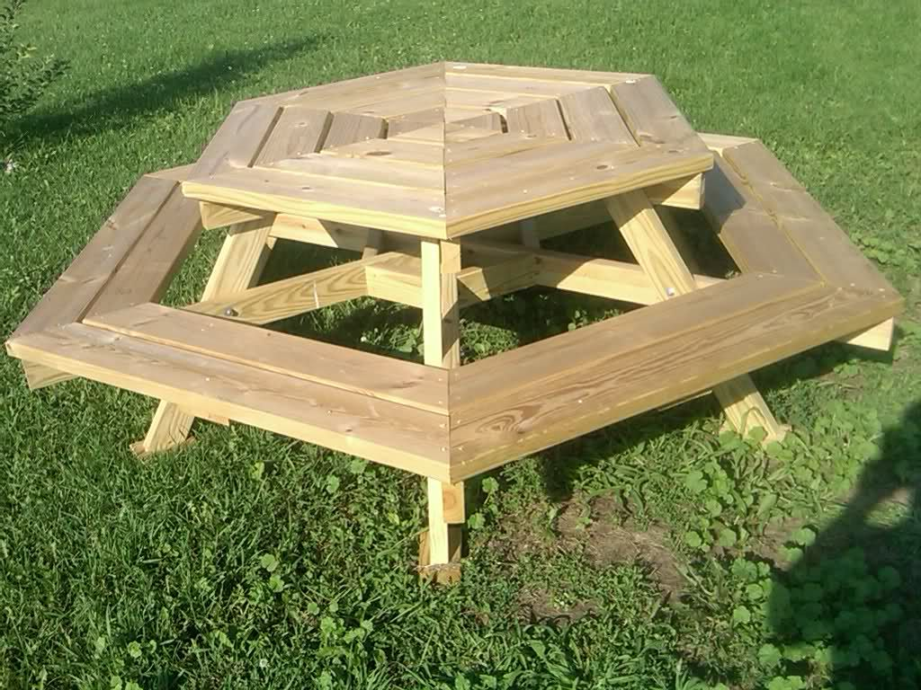 How To Build A Round Wooden Picnic Table, Sep - Amazing Wood Plans