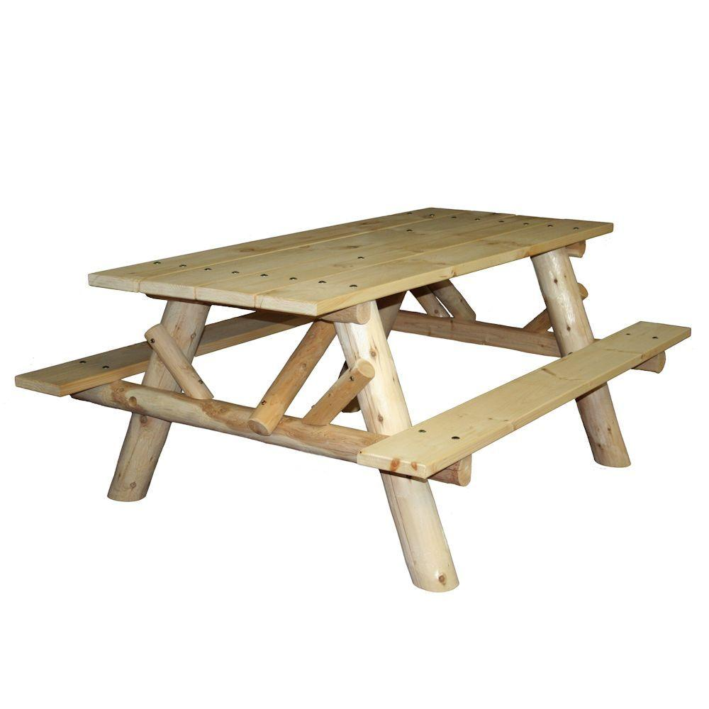 Patio Picnic Table with Attached Benches