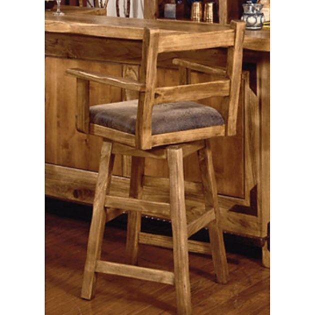 International Furniture 24-Inch Lodge Swivel Counter Stool with Arms