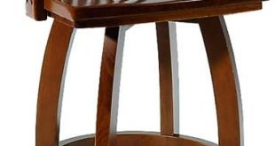 Waymar - Wood Swivel Bar Stools with Arms - The