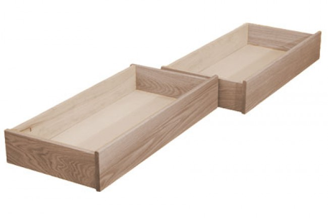 Natural Oak Under Bed Storage Drawers | The Futon Shop