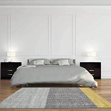 Amazon.com: Rio Modern Scandinavian Grey Ochre Yellow Living Room