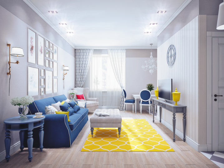 Stunning Interior Designs With Yellow Rugs And Carpets