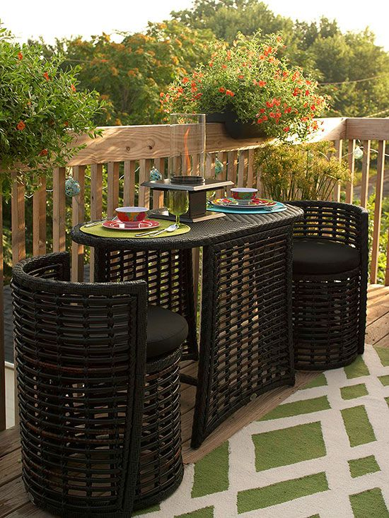 Amazing 12 Ways to Outfit a Small Deck outdoor furniture for small deck