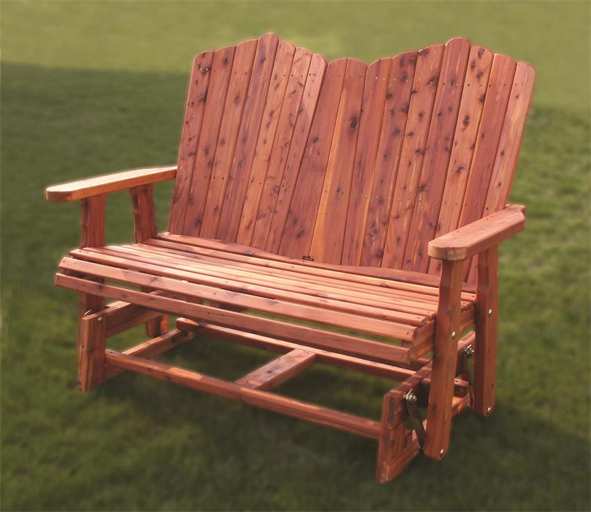 Amazing Amish Outdoor Wood Glider patio loveseat glider