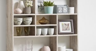 Amazing Andreas Wall Mounted Shelving Unit In Sand Oak And 9 Compartment wall shelving units