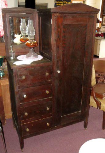 Amazing Antique Vintage Wardrobe Armoire Chifferobe Dresser Closet. This Men S  Dressing Cabinet antique wardrobe with mirror