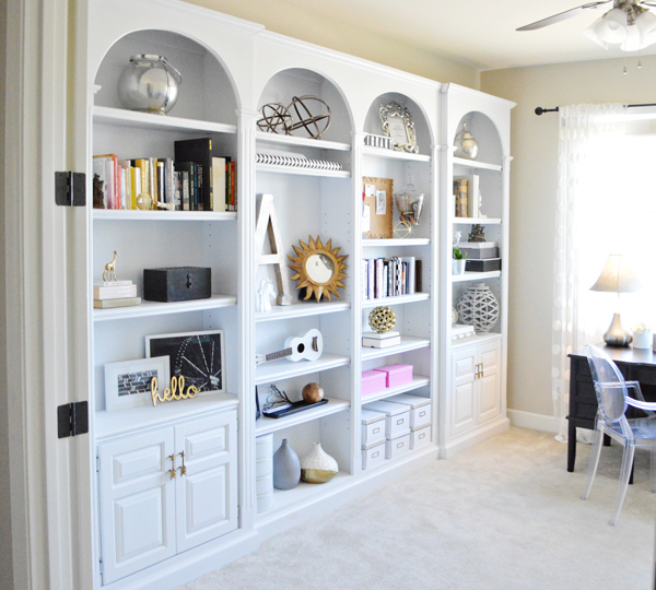 Amazing bookshelf wall in home office white office bookshelves