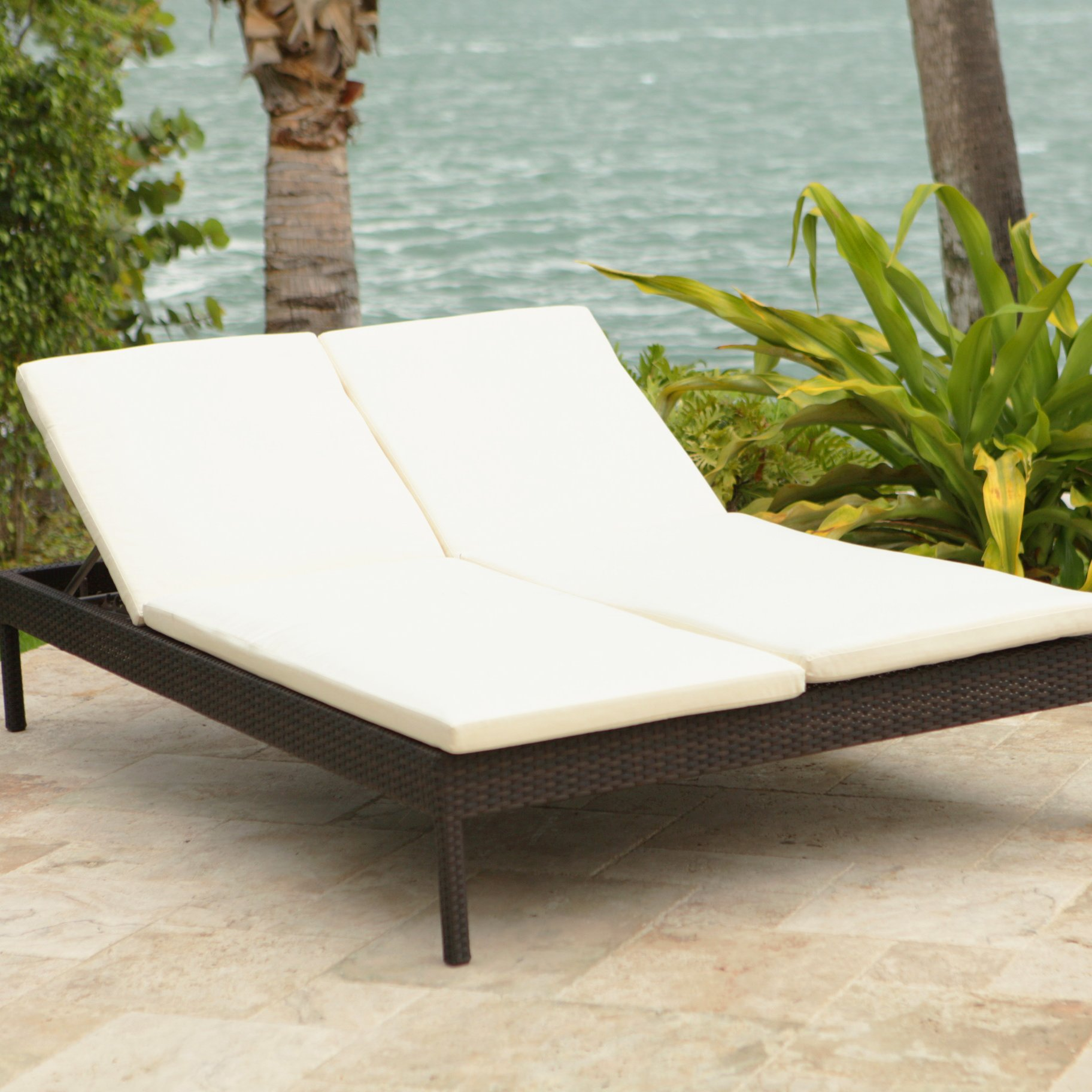 Amazing Brayden Studiou0026reg; Roque Double Chaise Lounge with Cushion double chaise lounge outdoor