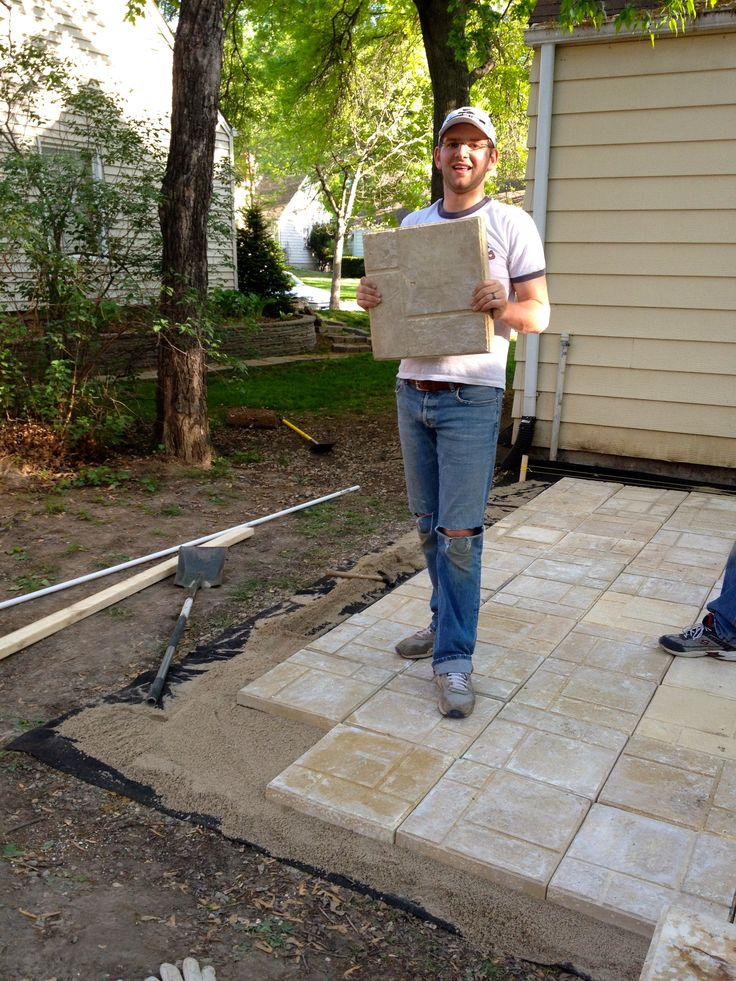 Amazing Bring on the yardwork- Part 1, Installing a Paver Patio diy patio ideas