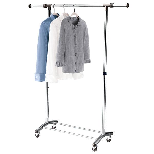 Amazing Brushed Chrome Garment Rack metal wardrobe rack