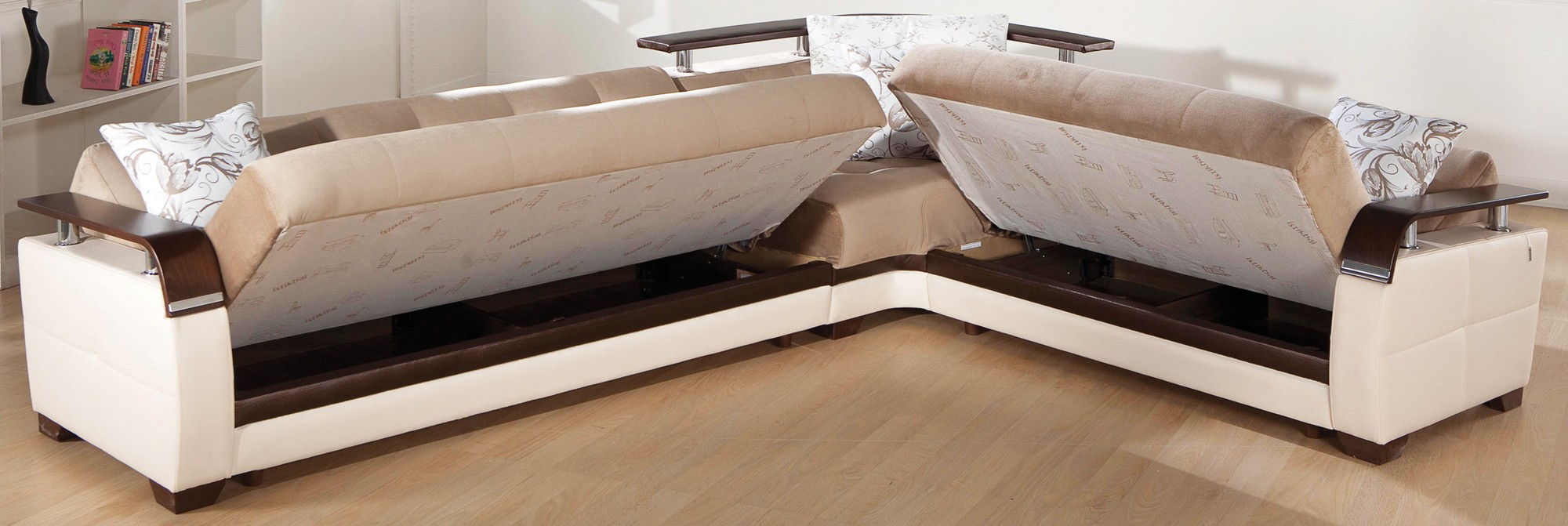 Amazing ... CADO Modern Furniture - NATURAL Sectional Sofa Sleeper ... sofa bed sectional
