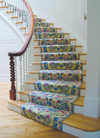 Amazing Carpeting Room Settings Gallery: Custom-Designed Tufted Stair Runner, 100% wool  stair wool carpet stair runners