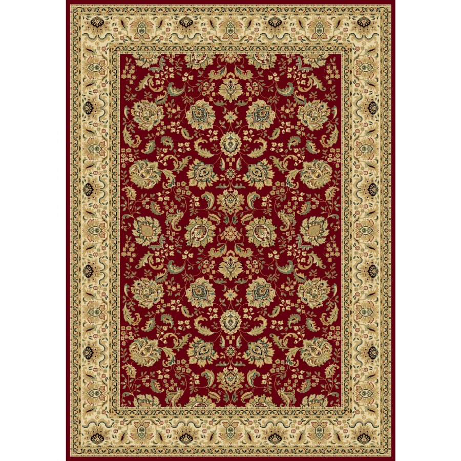 Amazing Central Oriental Persian Radiance Regency Crimson / Ivory Oriental Rug - central oriental rugs