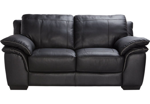 Amazing Cindy Crawford Home Grand Palazzo Black Leather Loveseat black leather loveseat