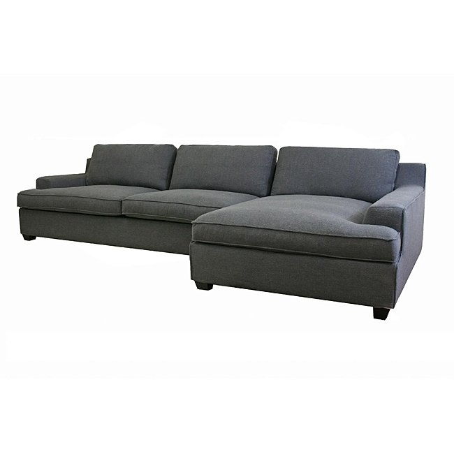 Amazing Comfort meets style in this stunning grey modern sectional sofa from  Kaspar. modern gray sectional sofa