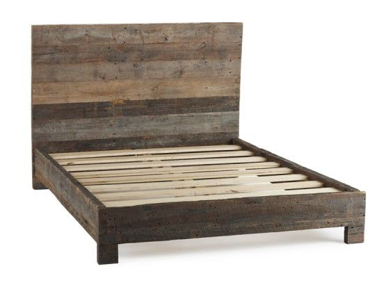 Amazing Coyuchi Barnwood Bed in sustainable Douglas Fir · Rustic Wood Bed FrameWood wooden bed frames