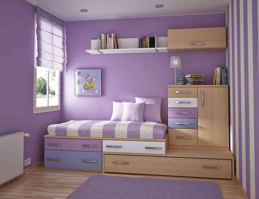 Amazing ... cute children bedroom ideas in white and purple color scheme along funky childrens bedroom furniture