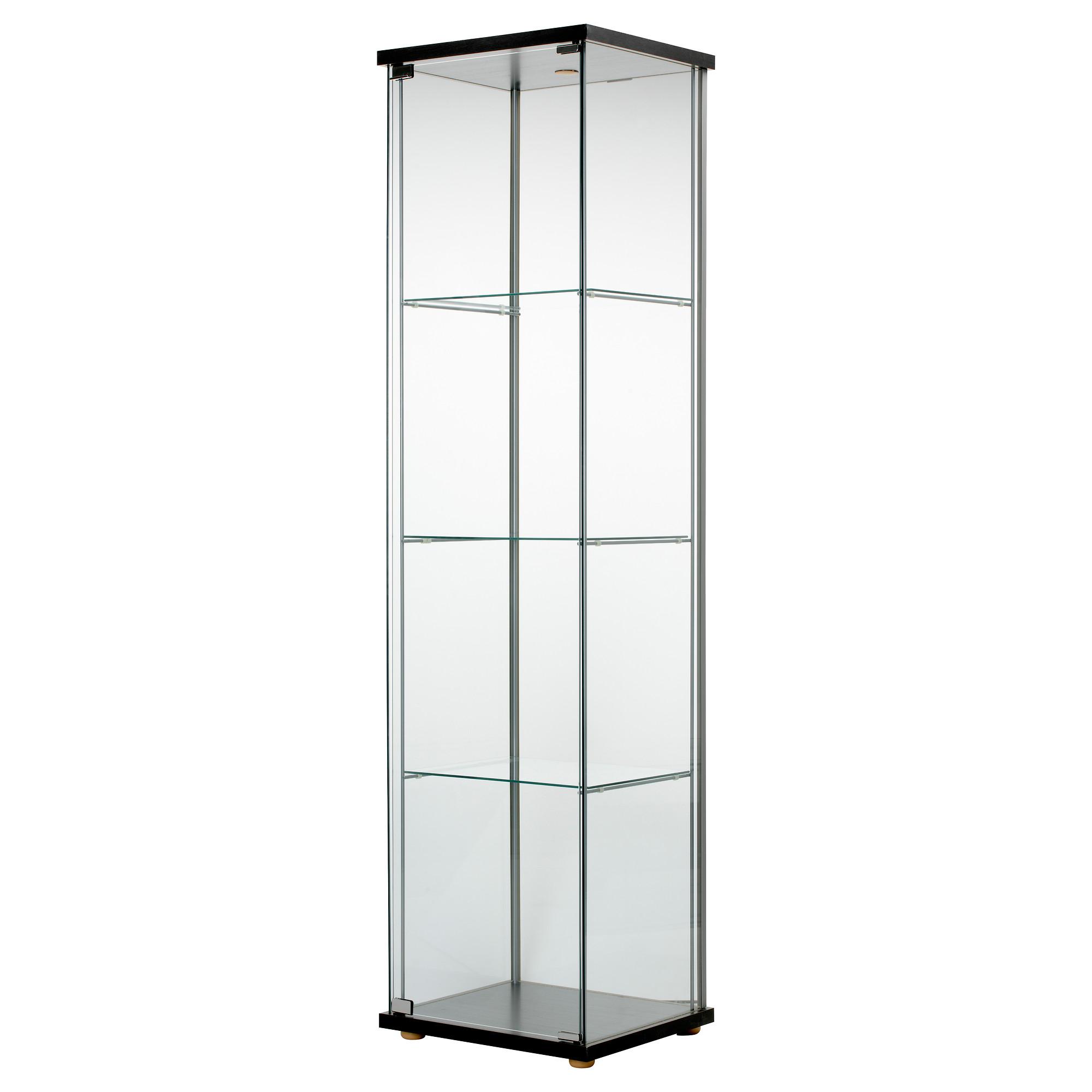 Amazing DETOLF Glass-door cabinet - black-brown - IKEA shelving units with glass doors